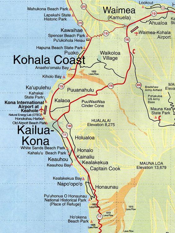 Kona Coast Map